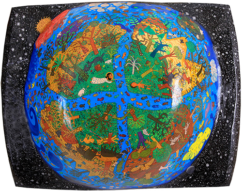Outsider art : Ilić Srboslav : Six-Day (creation, Earth, birth, formation, bible, parable)
